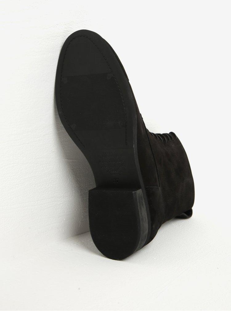 Černé dámské kožené kotníkové boty Vagabond Cary