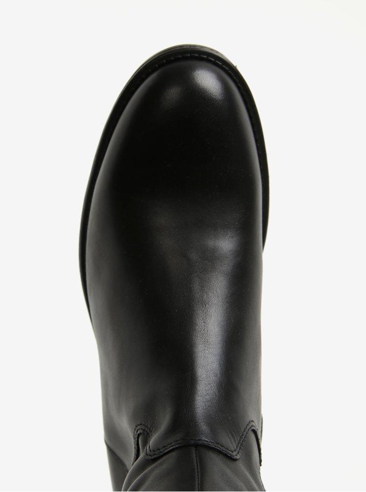 Černé dámské vysoké kožené kozačky Vagabond Amina