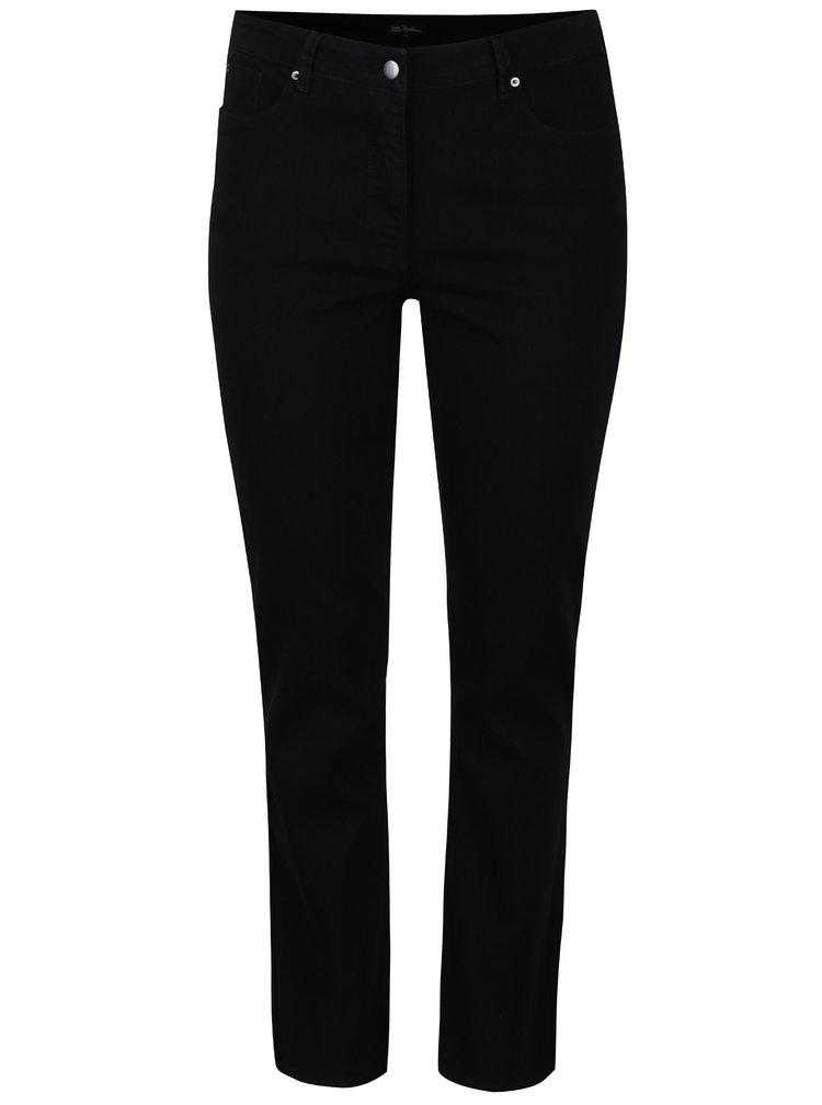 Černé slim fit kalhoty s kapsami Ulla Popken