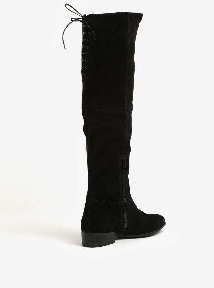Černé dámské vysoké semišové kozačky Vagabond Gigi