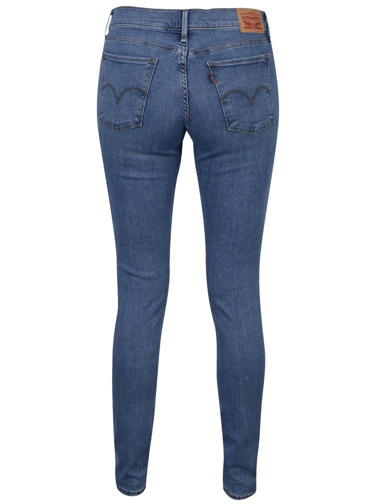 Blugi albastri super skinny pentru femei - Levi's® Indigo Splash