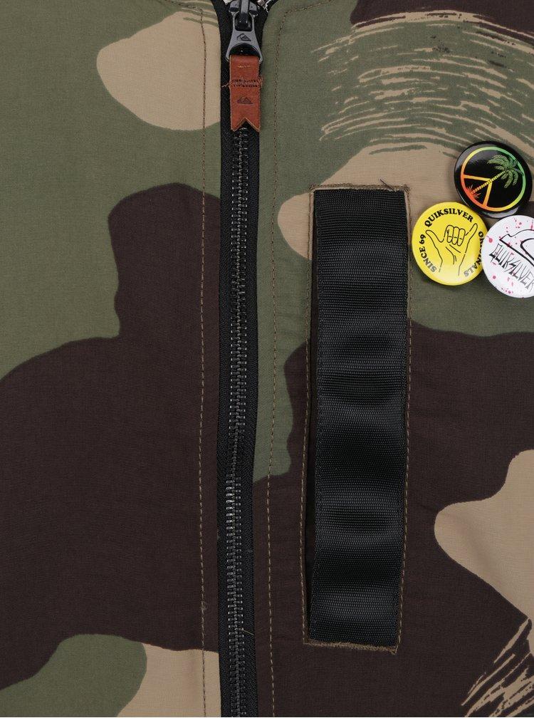 Khaki pánský maskáčový bomber Quiksilver Trestle Army