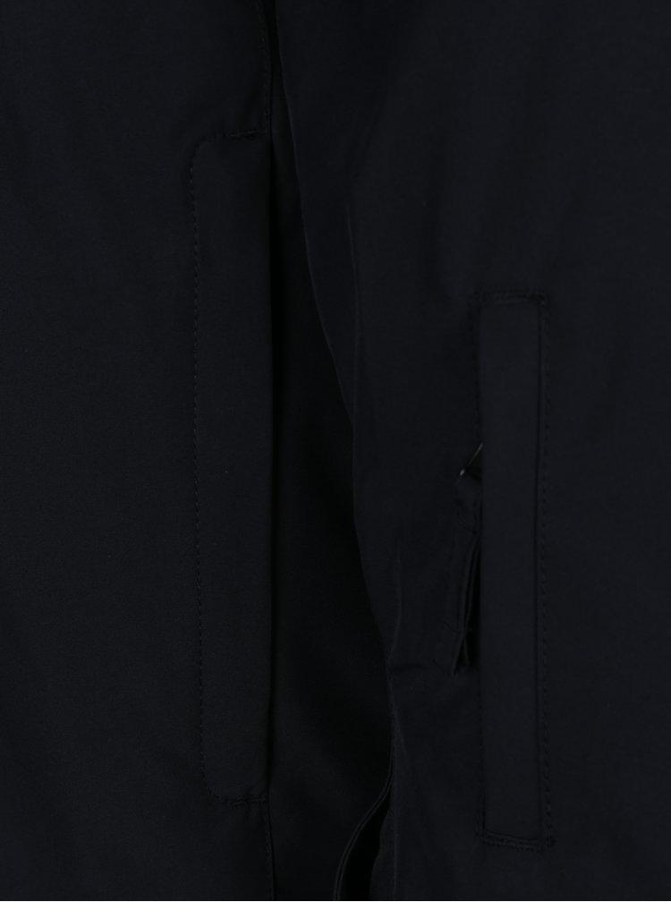 Černá pánská zimní voděodolná funkční bunda s kapucí Quiksilver Mission