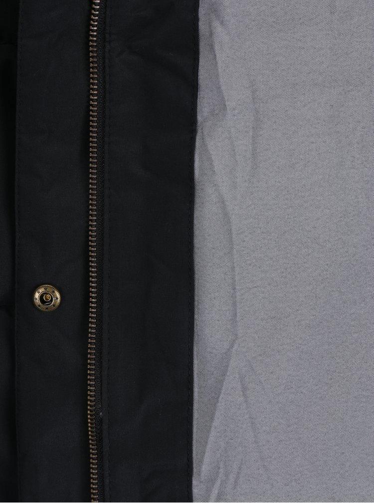 Černý dámský zimní voděodolný funkční prošívaný kabát Roxy Ellie