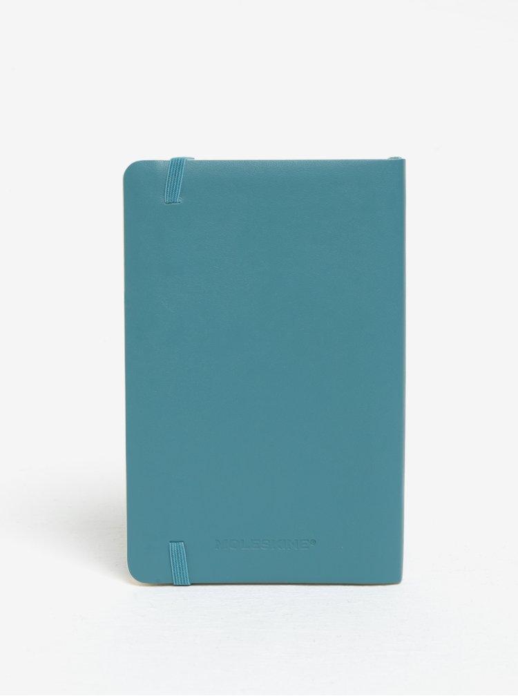 Petrolejový malý nelinkovaný zápisník v měkké vazbě Moleskine