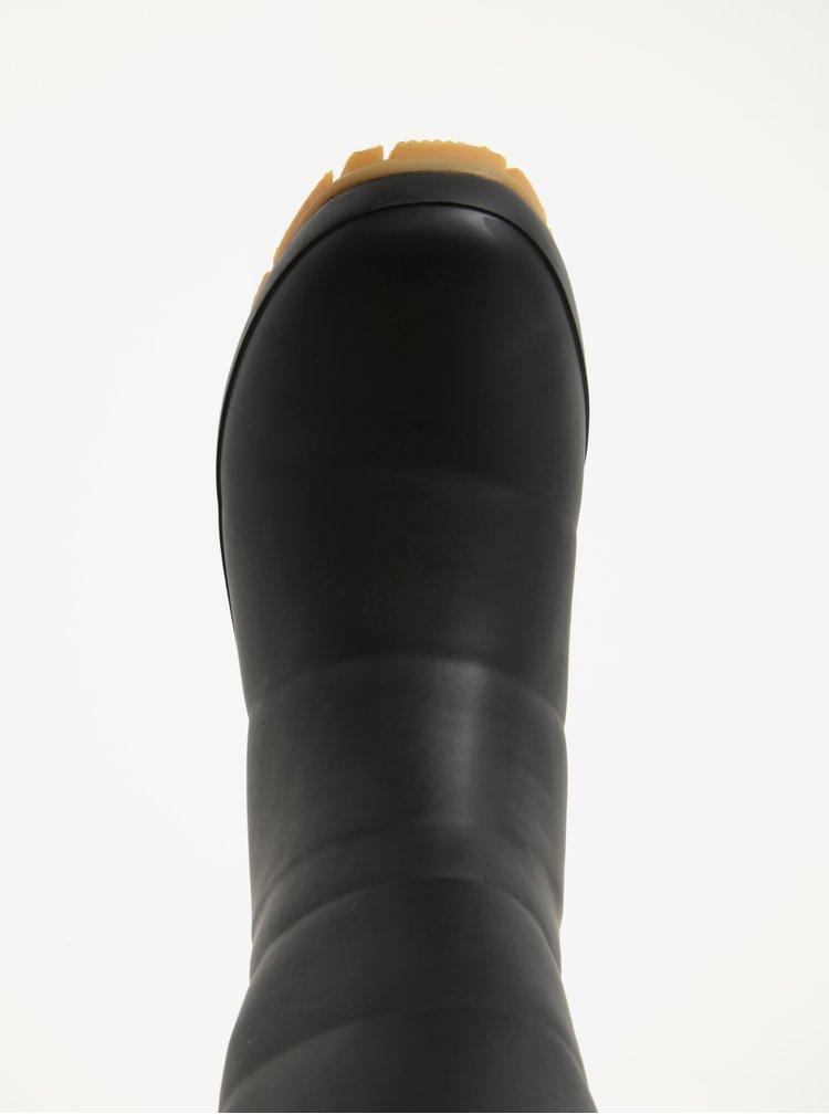 Černé dámské holínky s umělým kožíškem Tom Joule Downton