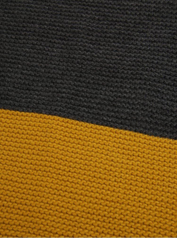 Fular galben&gri din tricot pentru femei - Tom Joule Annis