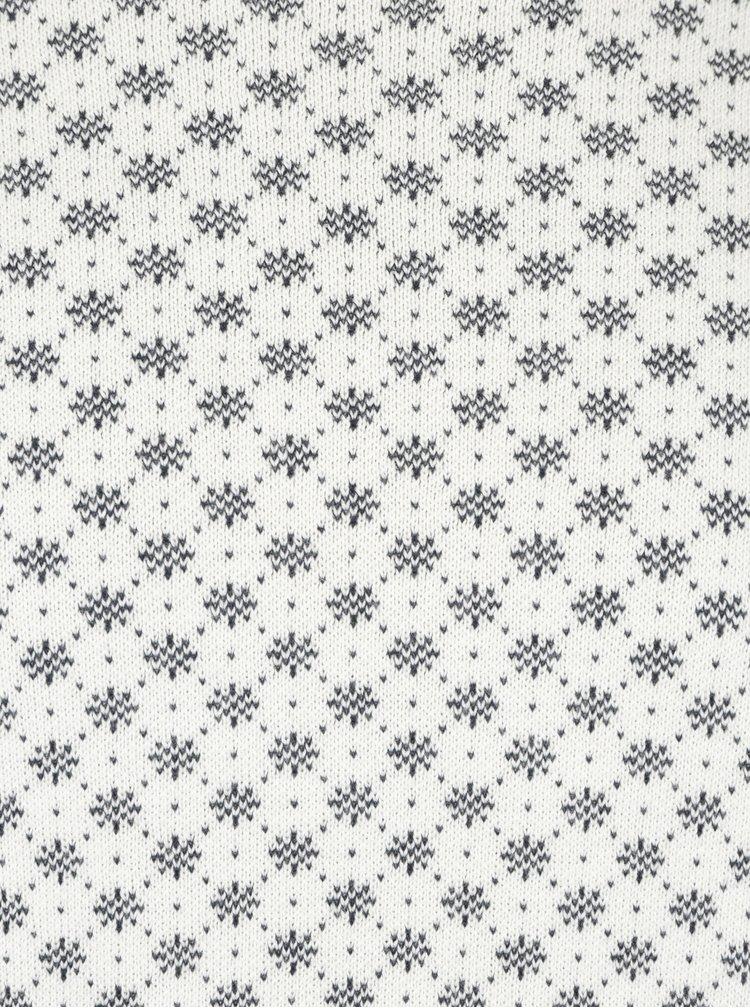 Krémový vzorovaný svetr Selected Homme New Snow