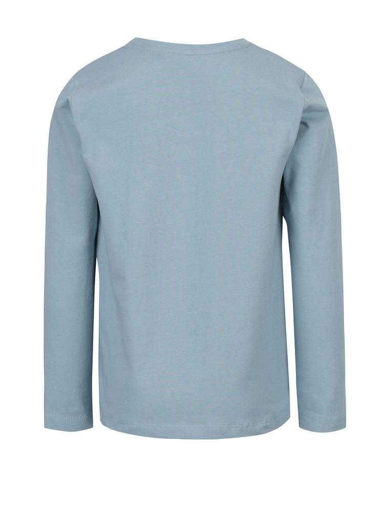 Světle modré klučičí tričko s potiskem a dlouhým rukávem name it Vux