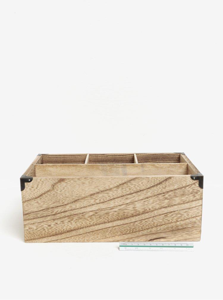 Cutie maro din lemn cu compartimente SIFCON