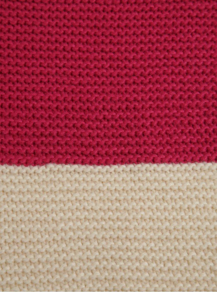 Růžovo-fialová dámská pletená šála Tom Joule Annis