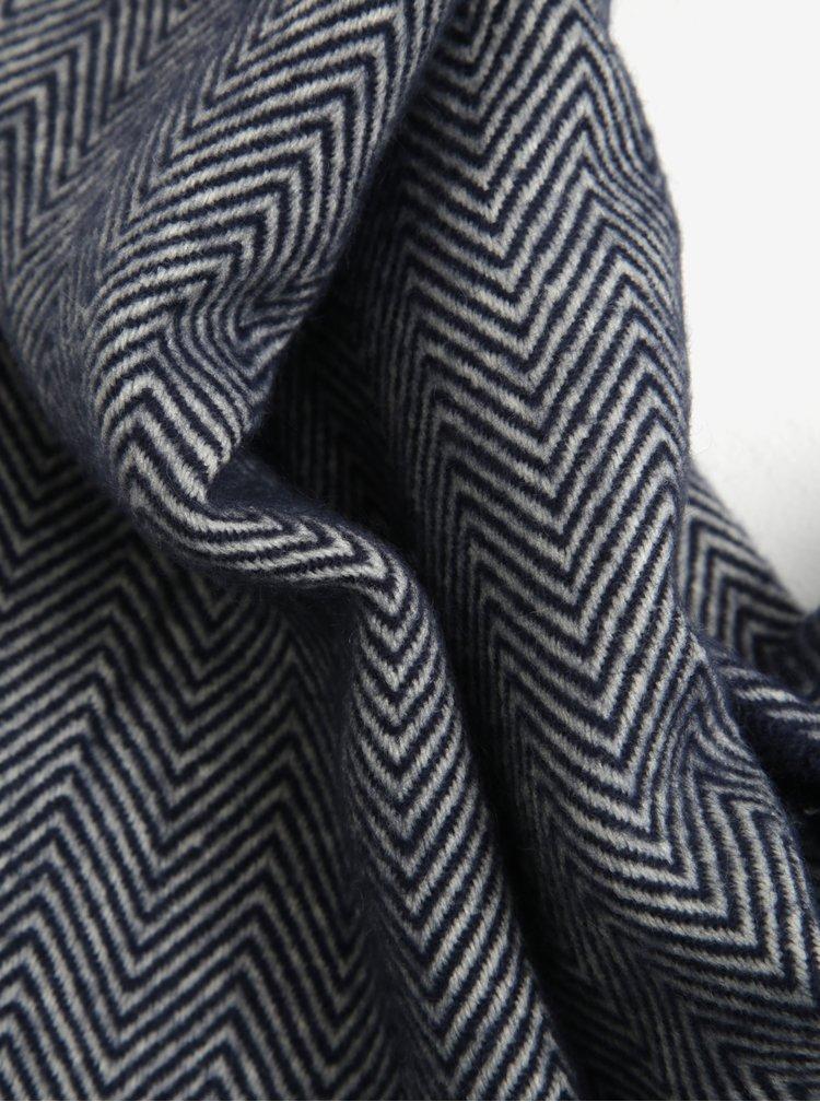 Krémovo-modrá dámská vzorovaná šála Tom Joule Twilby