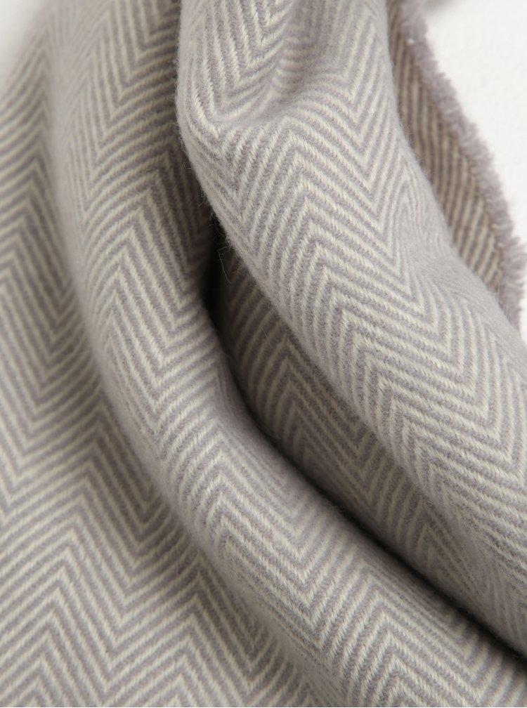 Krémovo-šedá dámská vzorovaná šála Tom Joule Twilby