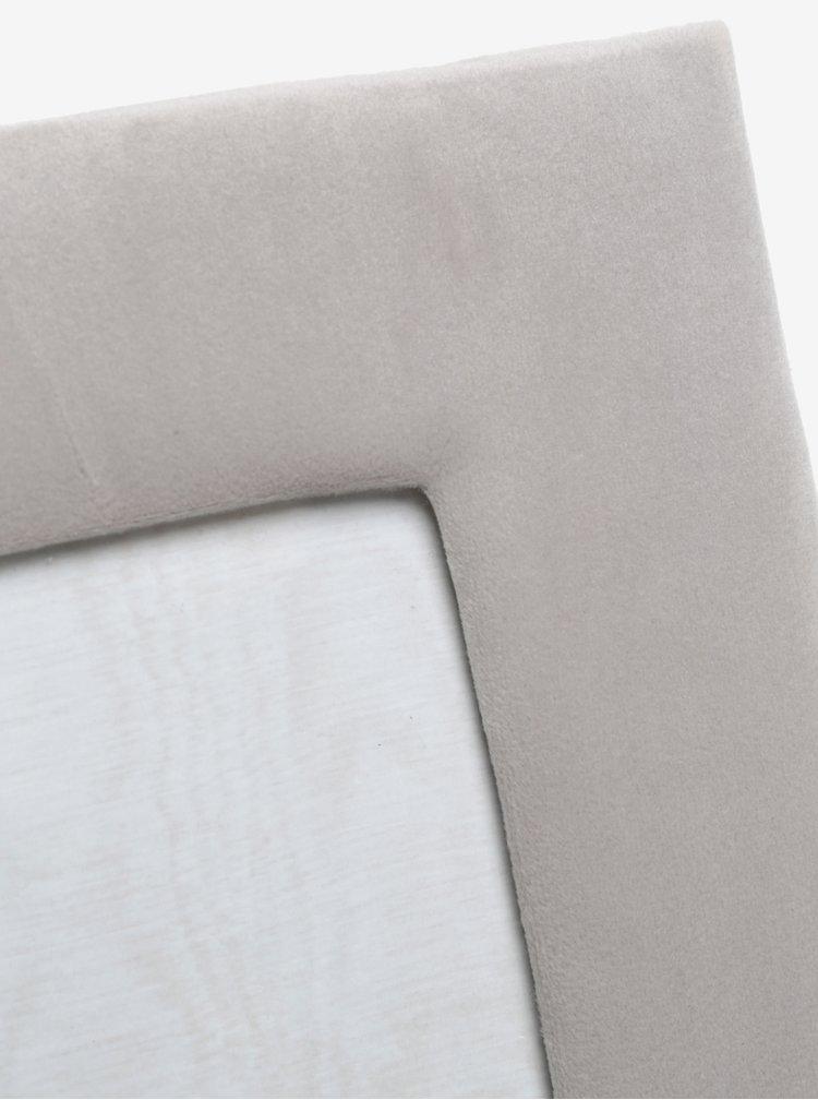 Světle šedý fotorámeček se sametovým rámem SIFCON