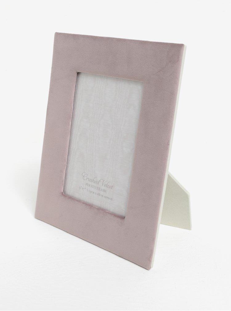 Růžový fotorámeček se sametovým rámem SIFCON