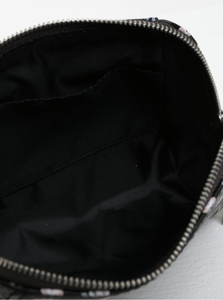 Černá květovaná dámská kosmetická taštička Cath Kidston