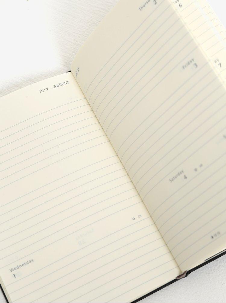 Černý malý týdenní diář na rok 2018 v pevné vazbě Moleskine