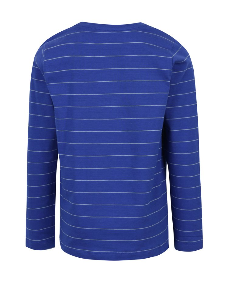 Modré klučičí tričko s potiskem a dlouhým rukávem name it Vux