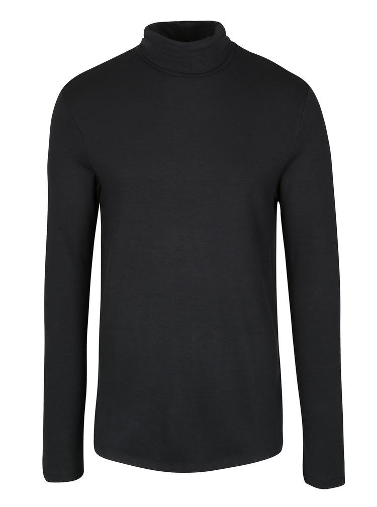 Bluza neagra cu guler inalt - Selected Homme Damian