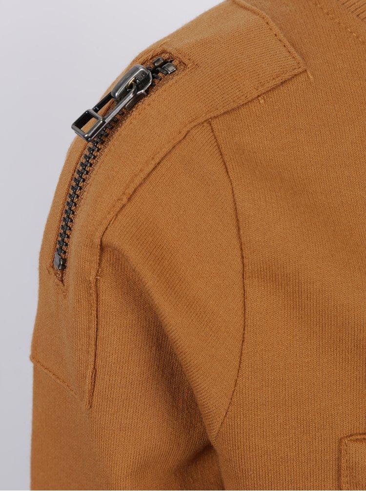 Hořčicová klučičí mikina s náprsní kapsou name it Pado