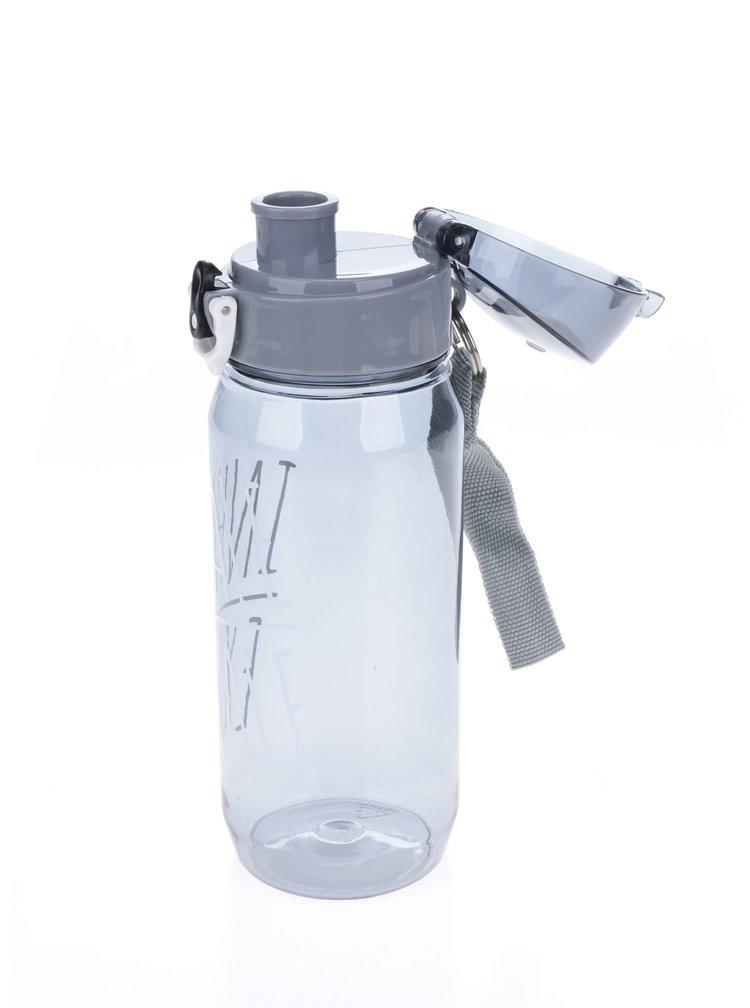 Sticlă de apă gri transparentă  Loooqs Inhale Exhale