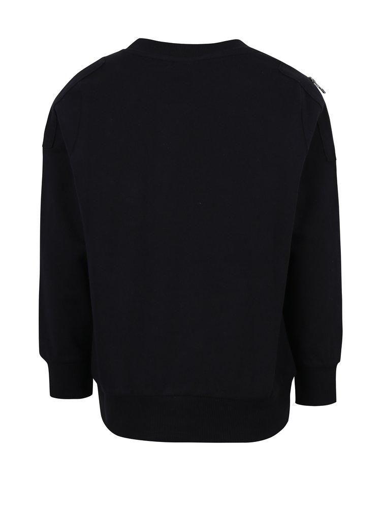 Černá klučičí mikina s náprsní kapsou name it Pado