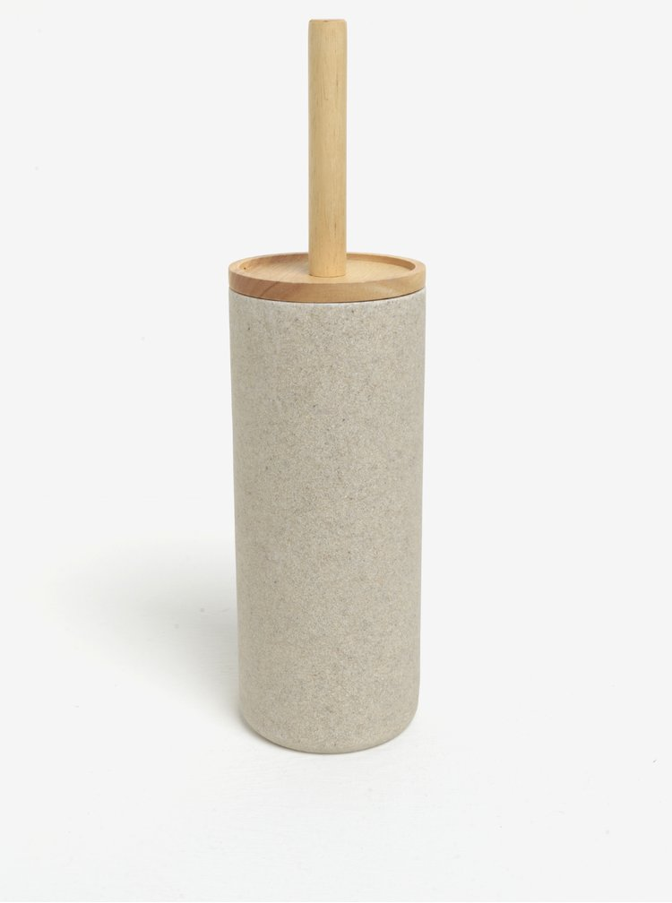 Béžový stojan s toaletní štětkou SIFCON
