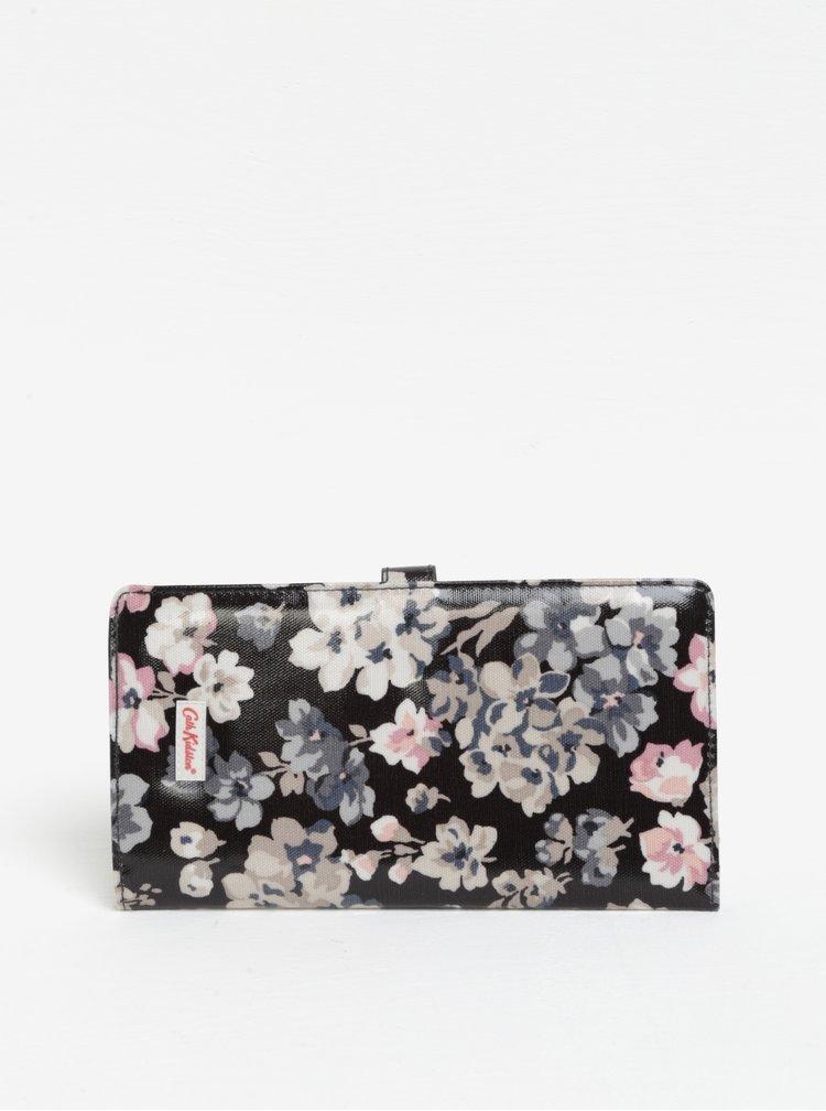 Krémovo-černá dámská cestovní peněženka s květy Cath Kidston
