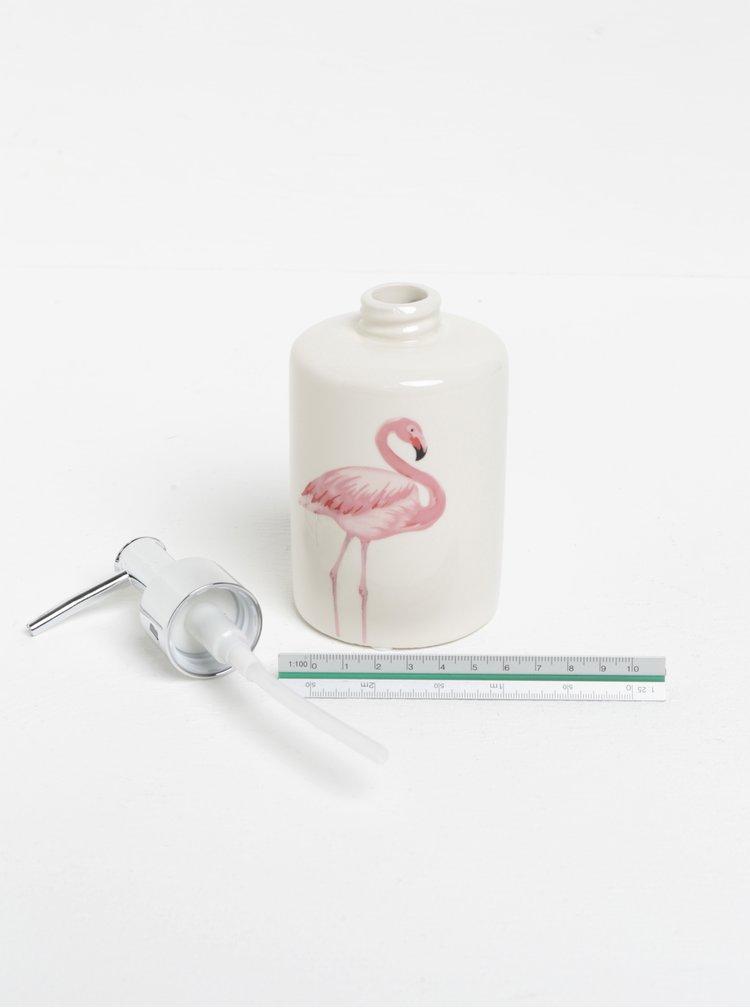 Krémový dávkovač na tekuté mýdlo s potiskem plameňáka SIFCON
