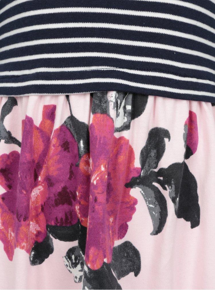 Rochie bleumarin in dungi si print floral Tom Joule Layala