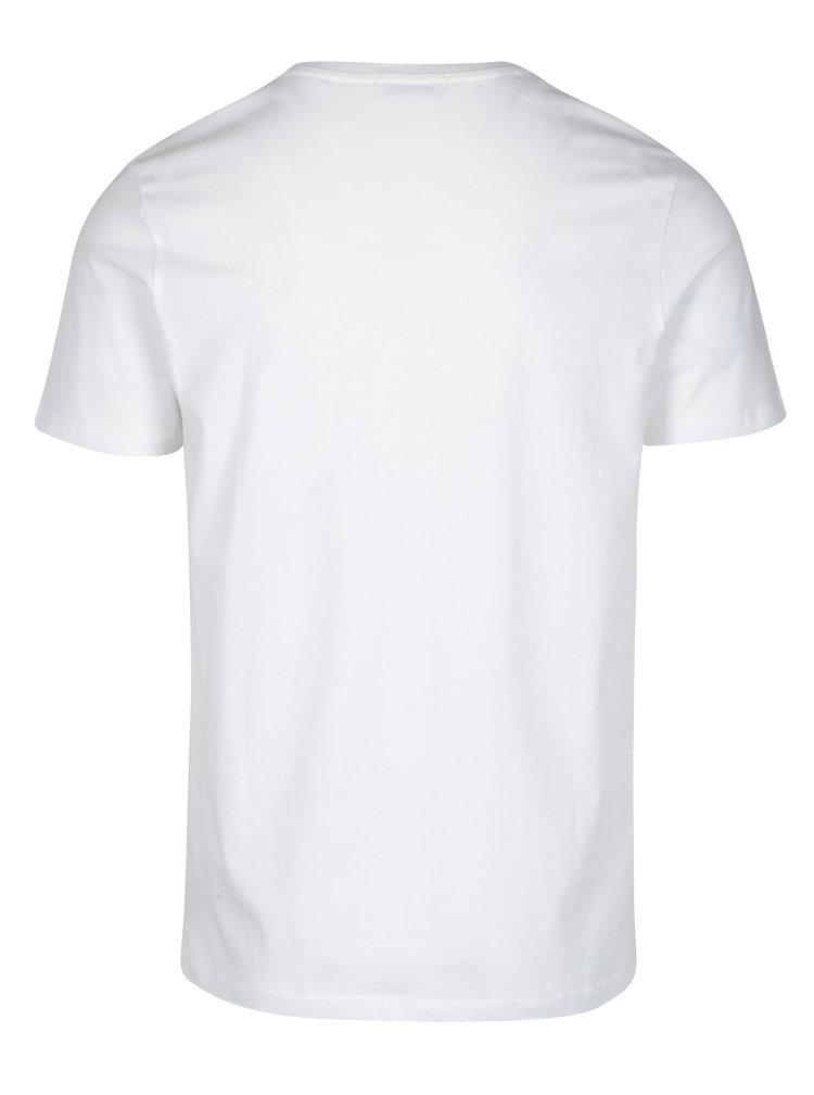 Bílé tričko s potiskem Selected Homme Prince