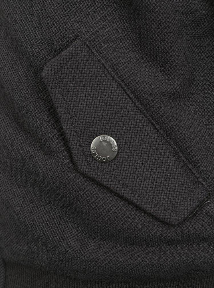 Tmavě šedý klučičí bomber s umělým kožíškem Tom Joule Kenickie