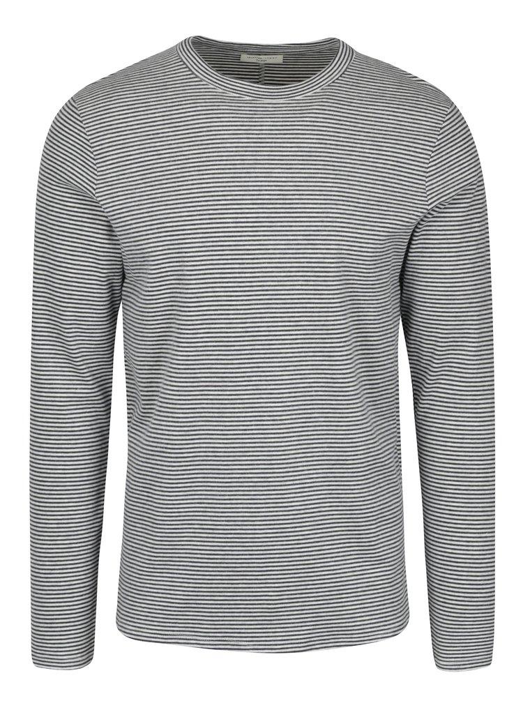 Bluza cu dungi crem & bleumarin - Selected Homme Ray