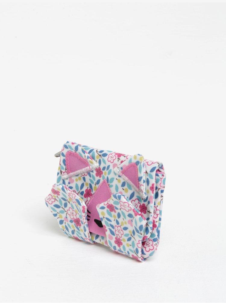 Bílá holčičí květovaná peněženka ve tvaru kočky Cath Kidston