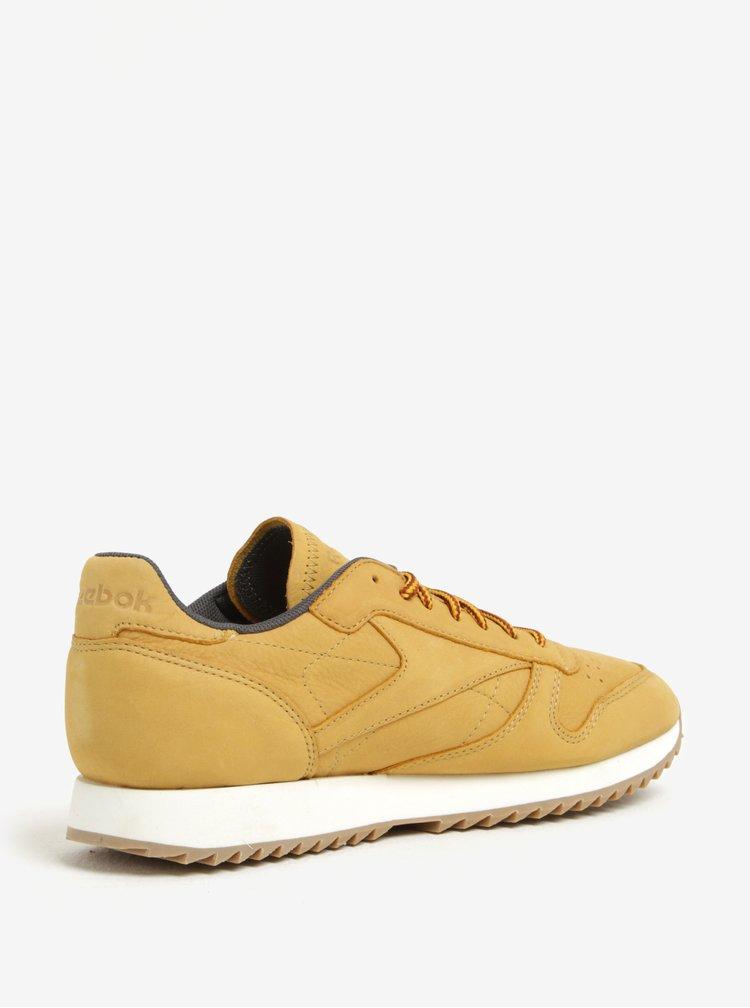 Žluté pánské kožené tenisky Reebok Ripple WP