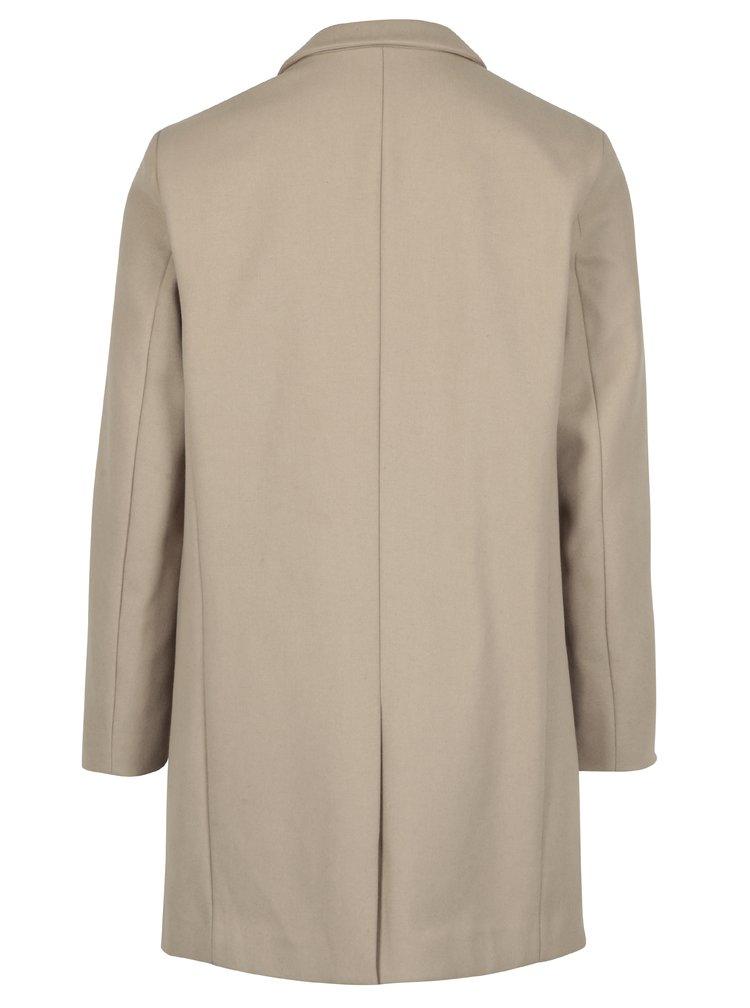 Béžový kabát s příměsí vlny Selected Homme Brove