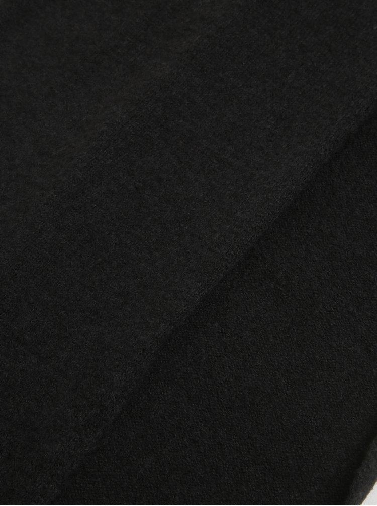 Černá šála s příměsí vlny Selected Homme Cali