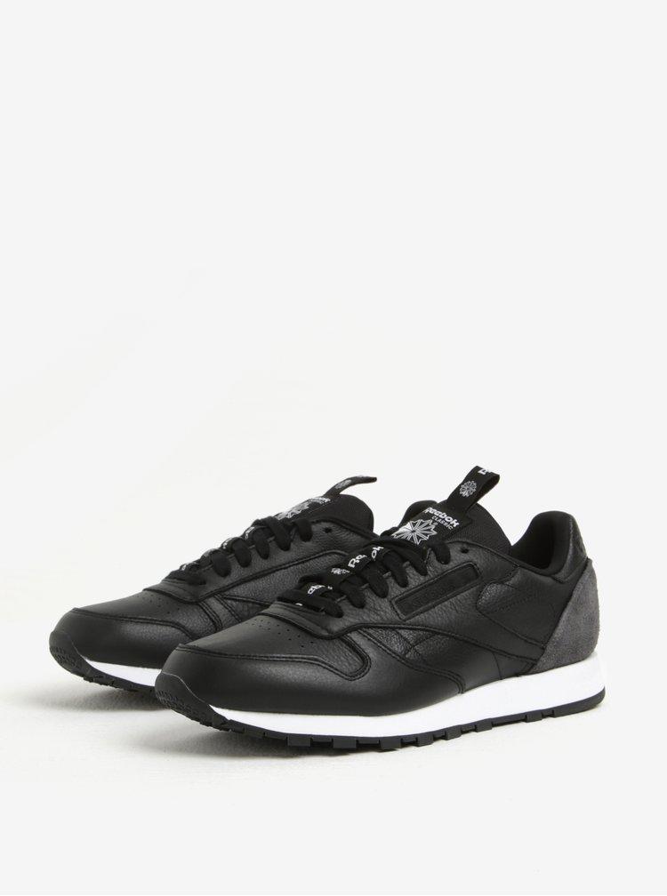 Černé pánské kožené tenisky Reebok CLUB C 85 IT