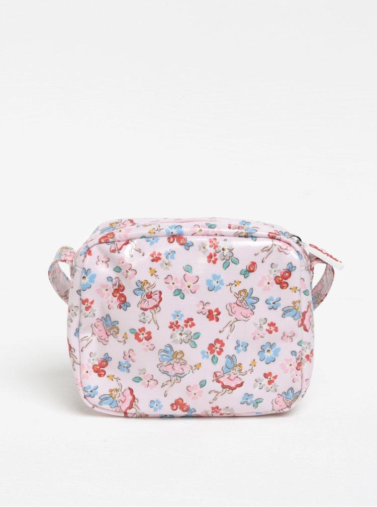 Světle růžová holčičí vzorovaná crossbody kabelka Cath Kidston