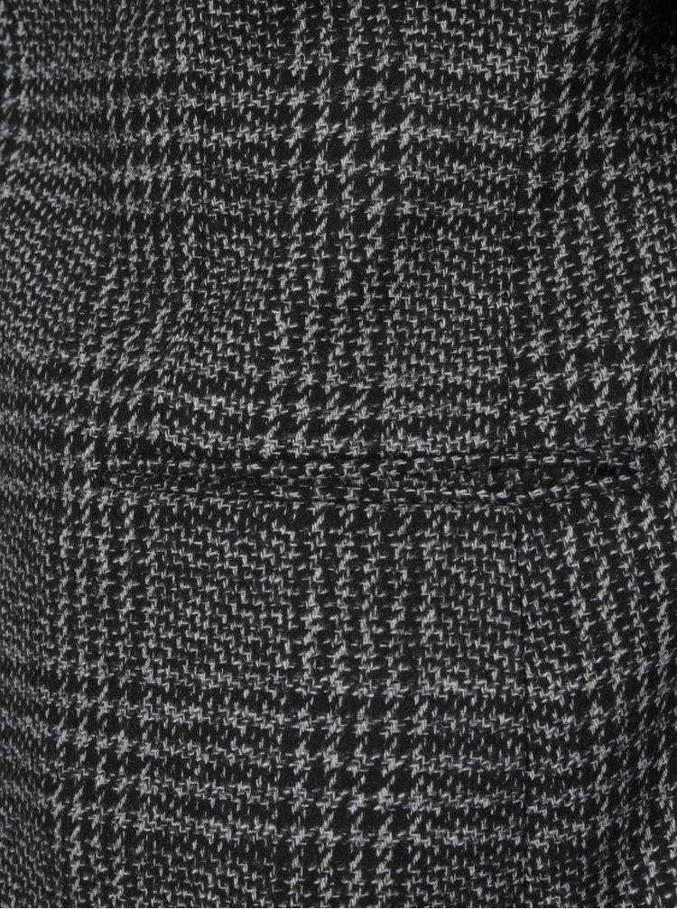 Šedo-černé vzorované sako s příměsí vlny Selected Homme One Bane