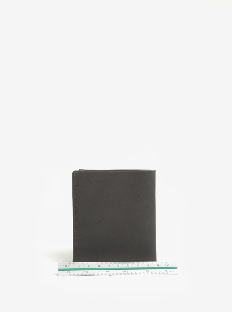 Portofel gri inchis din piele Bellroy Note Sleeve