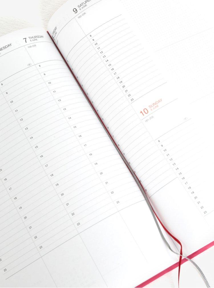 Agenda roz pentru anul 2018 cu protectie Mark's Storage.It A5