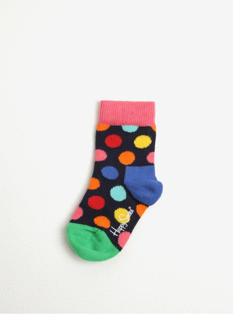 Sada šesti párů dětských ponožek v modré, žluté a červené barvě Happy Socks Gift Box