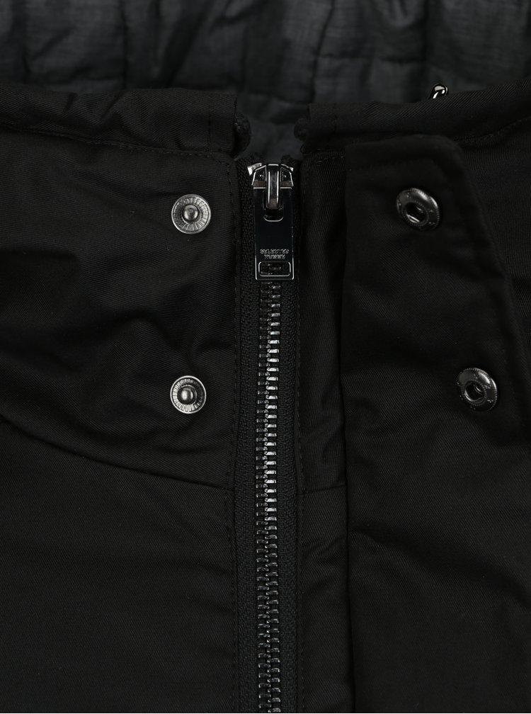Černá zimní parka s kapucí Selected Homme Vinyl