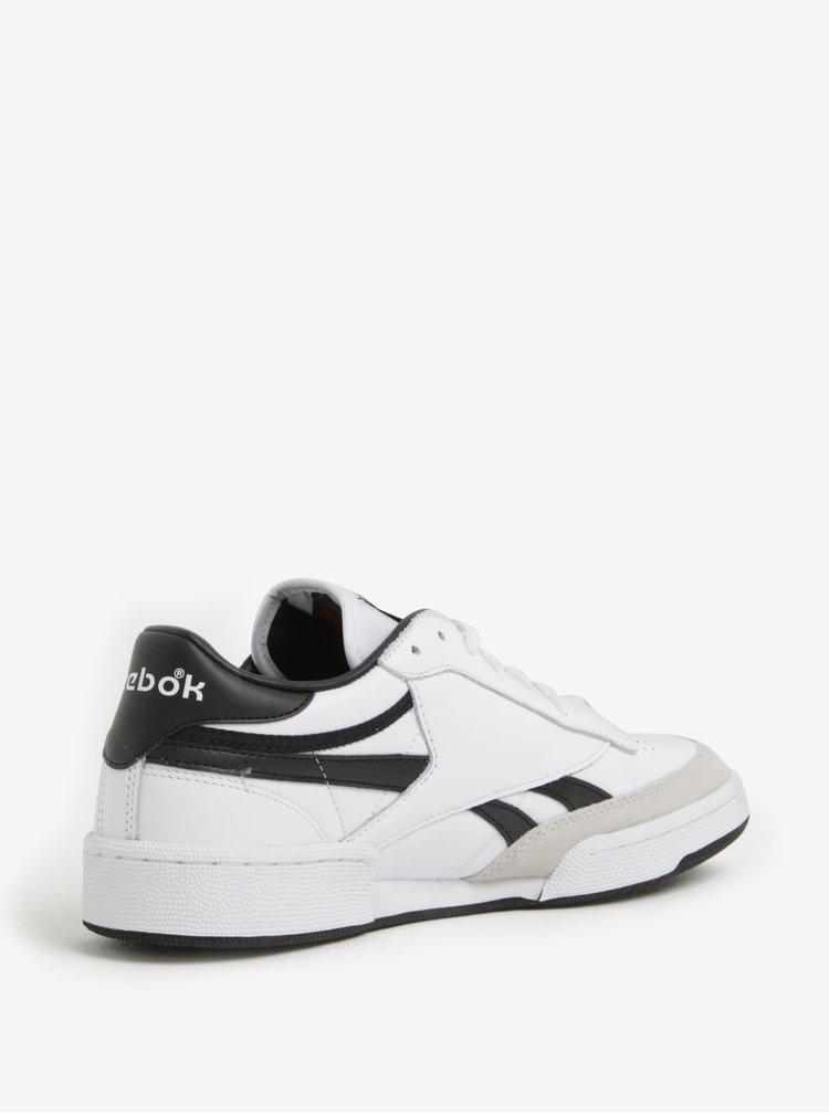 Černo-bílé pánské kožené tenisky Reebok TRC