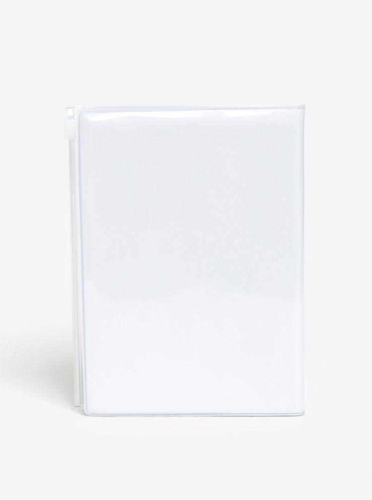 Agenda alb & roz pentru anul 2018 cu protectie Mark's Storage.It A6
