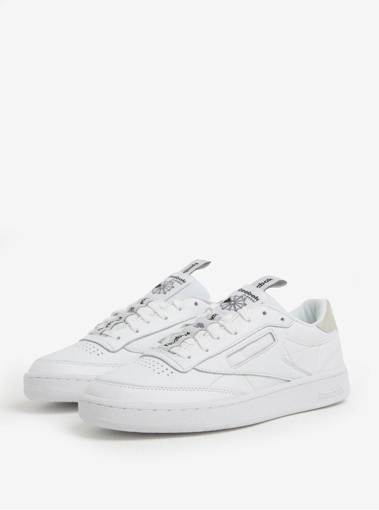 Bílé pánské kožené tenisky Reebok CLUB C 85 IT