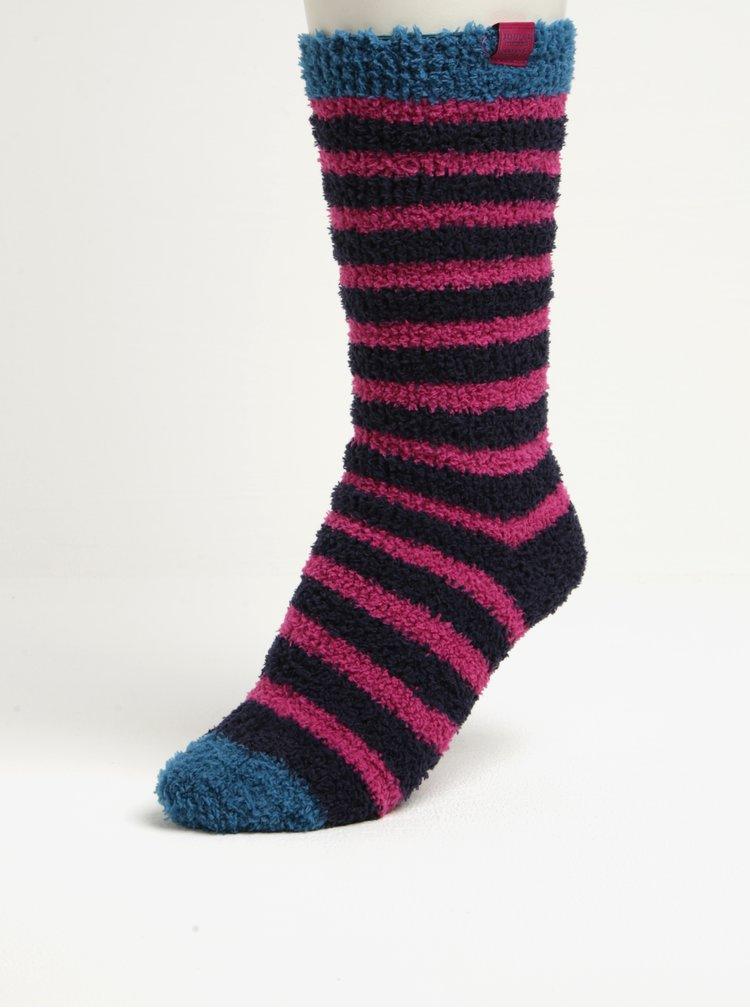 Modro-růžové dámské pruhované ponožky Tom Joule Fab Fluffy
