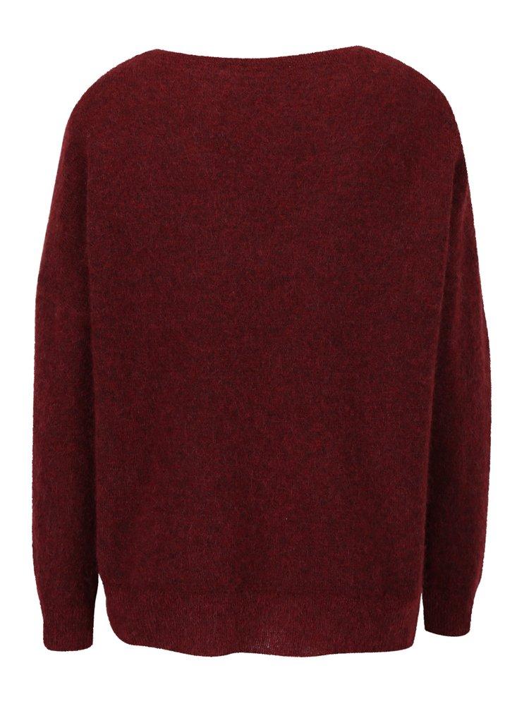 Červený vlněný svetr Selected Femme Livana