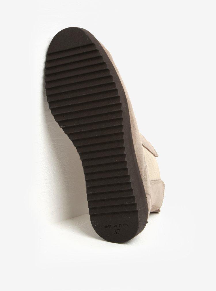 Šedé semišové chelsea boty OJJU